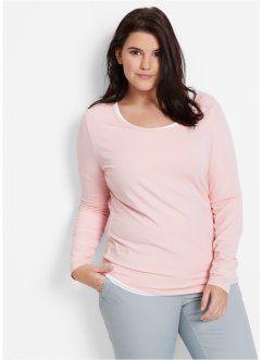 Stretchshirt, bpc bonprix collection, parelroze