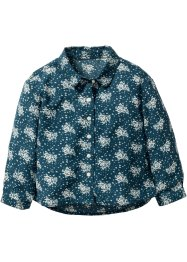 Blouse, bpc bonprix collection, blauwpetrol/ivoorkleur gedessineerd