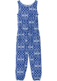 Jumpsuit, bpc bonprix collection, blauw gedessineerd