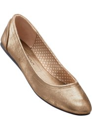 Ballerina's, bpc bonprix collection, koperkleur metallic