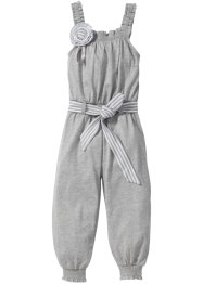Jumpsuit, bpc bonprix collection, lichtgrijs gemêleerd/wit