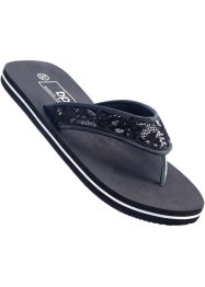 Teenslippers, bpc bonprix collection, zwart