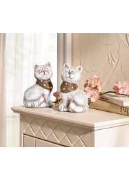 Decoratiefiguren «Poezen» (set van 2), bpc living