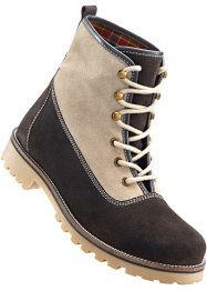 Boots, bpc bonprix collection, donkerbruin/beige