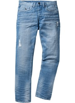 Jeans regular fit straight, RAINBOW, blue bleached