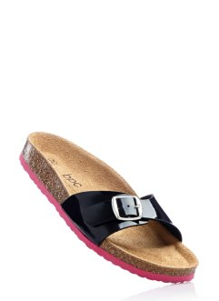 Slippers, bpc bonprix collection, zwart/pink