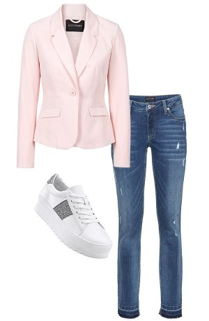 Dames - Businessblazer - parelroze