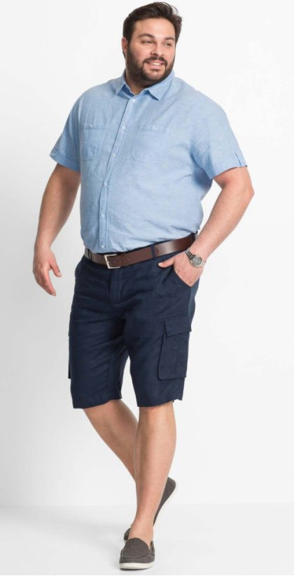 Heren - Bermuda loose fit - donkerblauw