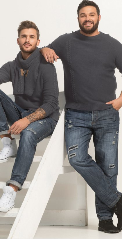 Heren - Jeans regular fit tapered - blue stone used