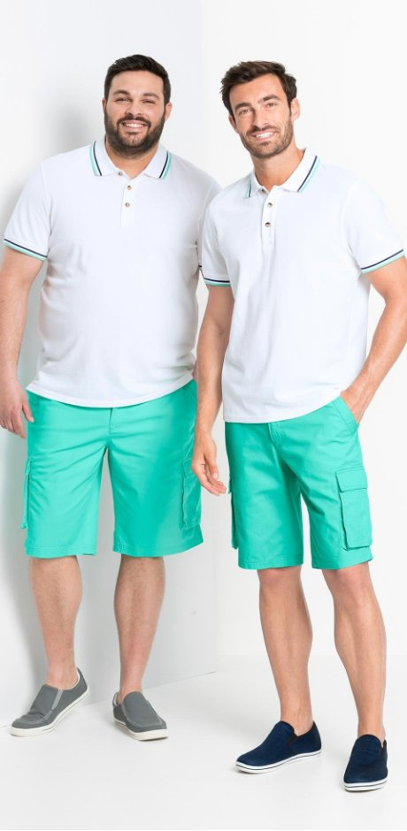 Heren - Cargobermuda loose fit - mintgroen