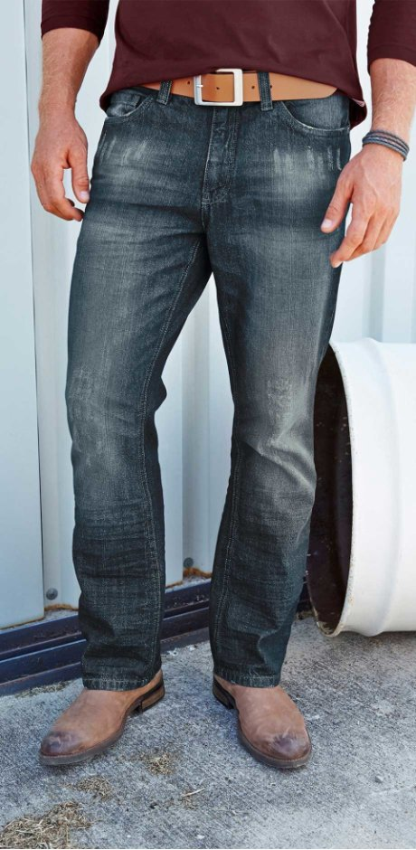 Heren - Jeans bootcut - donkerblauw