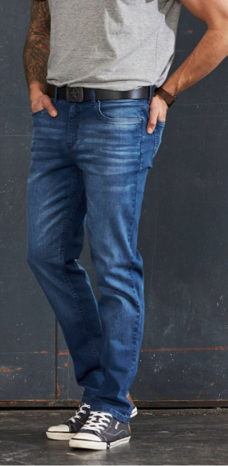 Heren - Stretch jeans - blue stone