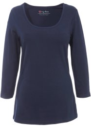 Stretchshirt, bpc bonprix collection, donkerblauw