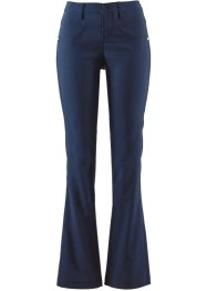 Afslankende stretchbroek bootcut, bpc bonprix collection, donkerblauw