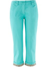 3/4-stretchbroek, bpc bonprix collection, pacifisch groen