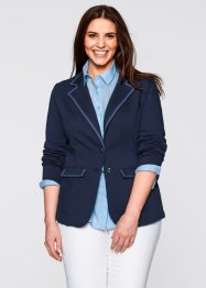 Sweatblazer, bpc bonprix collection, donkerblauw/indigo