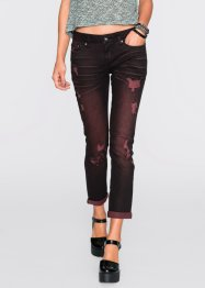 Jeans slim fit, RAINBOW, black/red denim