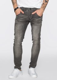 Stretchjeans skinny fit straight, RAINBOW, light grey denim used