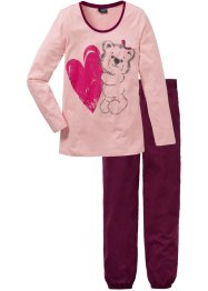 Pyjama, bpc bonprix collection, oudroze met print