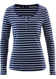 Henley, bpc bonprix collection, donkerblauw/wit gestreept