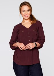 Blouse, bpc bonprix collection, ahornrood