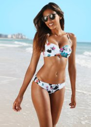 Beugelbikini (2-dlg. set), bpc bonprix collection, wit gedessineerd