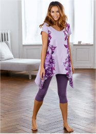 Pyjama, bpc bonprix collection, prune/lila met print