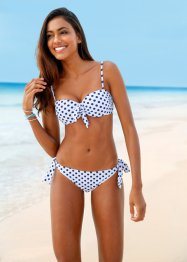 Beugelbikini (2-dlg. set), bpc bonprix collection, wit/blauw