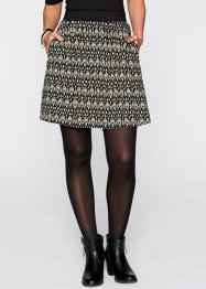 Rok, bpc bonprix collection, zwart/kiezelgrijs gedessineerd