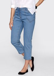 7/8-stretchjeans, bpc bonprix collection, medium blue bleached