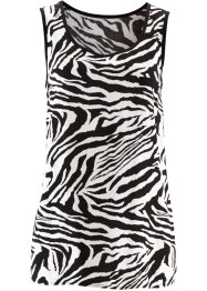 Blousetop, bpc selection, zwart/wit zebraprint