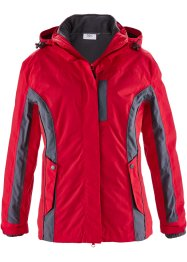 3in1-outdoorjack, bpc bonprix collection, rood/antraciet
