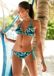 Triangelbikini, RAINBOW, blauw gedessineerd
