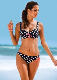 Beugelbikini (2-dlg. set), bpc bonprix collection, zwart/wit gestippeld