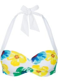 Beugel bikinitop, bpc bonprix collection, wit gedessineerd