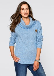 Sweatshirt, bpc bonprix collection, azuurblauw gemêleerd