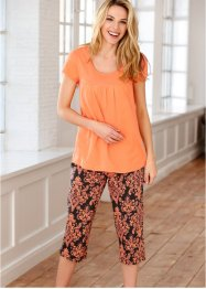 Pyjama, bpc bonprix collection, oranje/zwart