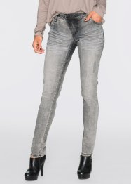 Skinny jeans, RAINBOW, zwart washed