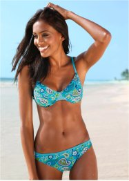 Beugelbikini (2-dlg. set), bpc bonprix collection, turkoois/wit
