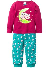 Pyjama (2-dlg. set), bpc bonprix collection, rode biet/smaragdgroen