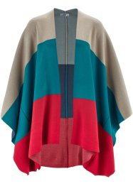 Poncho, bpc bonprix collection, donkerrood gedessineerd