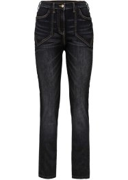 Stretchjeans hoge taille, bpc bonprix collection, black stone