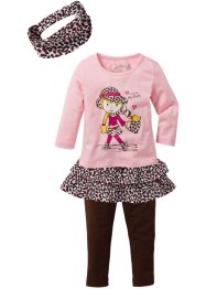 Shirt, rok, legging, accessoire (4-dlg. set), bpc bonprix collection
