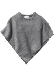 Poncho, bpc bonprix collection, antraciet gemêleerd