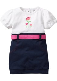 Babyjurk, bpc bonprix collection, wit/donkerblauw
