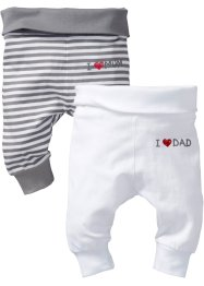 Babybroek (set van 2), bpc bonprix collection, wit+grijs