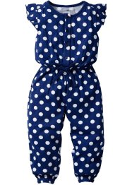 Jumpsuit, bpc bonprix collection, middernachtblauw/wit gestippeld