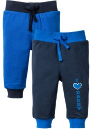 Sweatbroek (set van 2), bpc bonprix collection, azuurblauw/donkerblauw