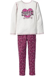 Pyjama (2-dlg.), bpc bonprix collection, wolwit/pink