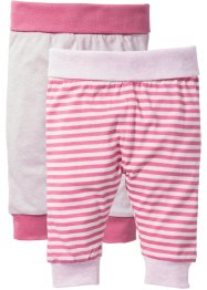Shirtbroek (set van 2), bpc bonprix collection, crèmeroze/matpink + poederroze gemêleerd